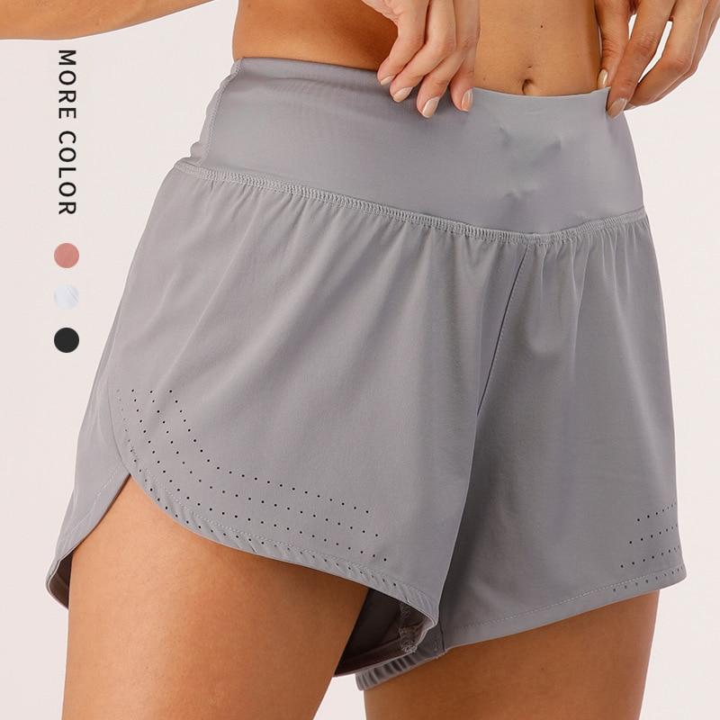 Для женщин шорты для занятий йогой и фитнесом спортивные масло мягкой быстросохнущие тренажерный зал Йога Спортивные Пляжные шорты для бег...