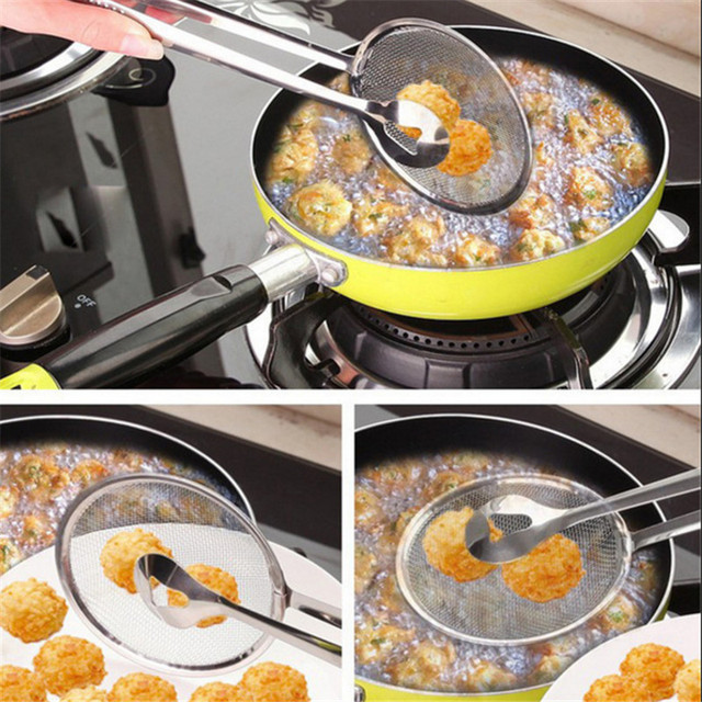 1pcs Kitchen Accessories Stainless Steel Fried Food Fishing Oil Scoop Kitchen Gadget and Barbecue Brush for Kitchen Tools Home-S 6