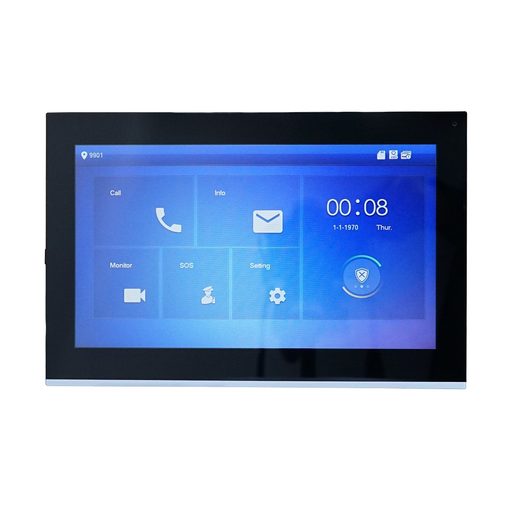 DH Logo VTH5441G PoE(802.3af) 10-inch Touch Indoor Monitor,IP Doorbell Monitor, Video Intercom Monitor,wired Doorbell Monitor