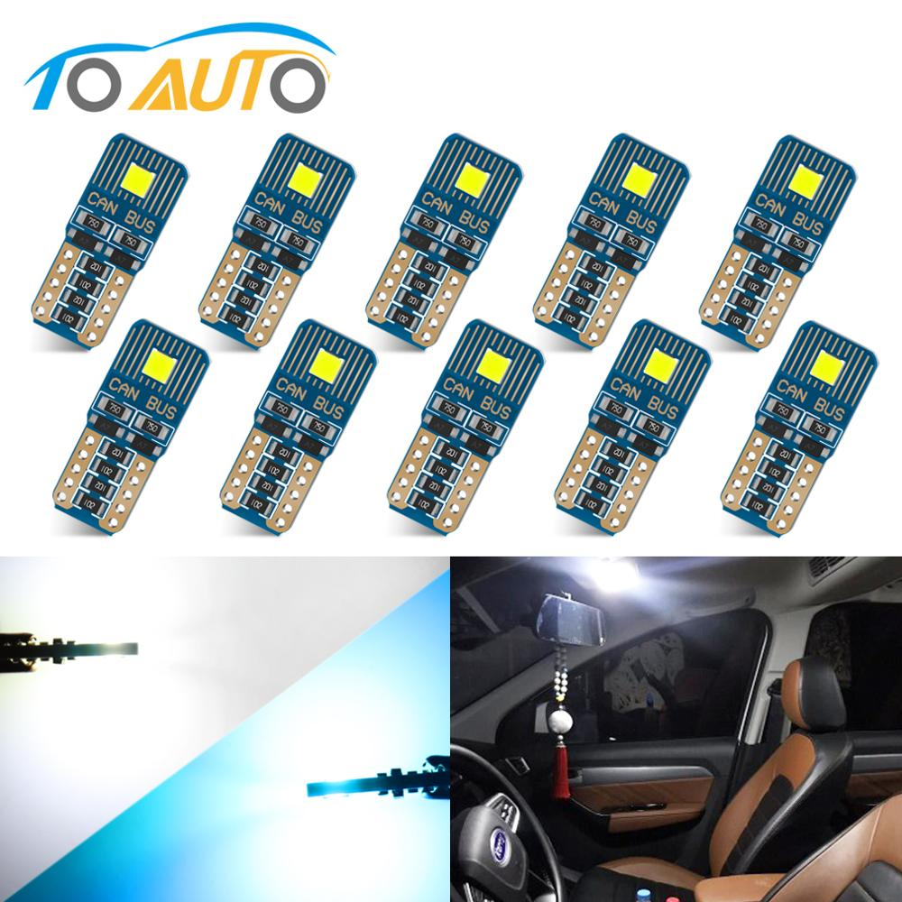 10Pcs T10 <font><b>W5W</b></font> <font><b>Led</b></font> FLS35 Chips 2SMD Canbus <font><b>LED</b></font> Car Auto Reading Lamp License Plate Lights Tail Side <font><b>Bulb</b></font> Car Parking Light image