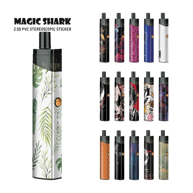 Maigc Shark Star Joker Messi Leaf Joker Sky Deadpool Venom Vape Sticker Case PVC For Pod Stick Film For VAPORESSO PodStick