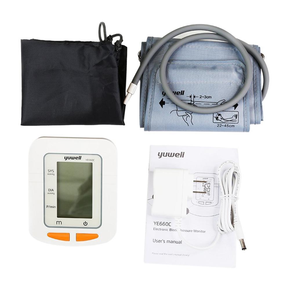 Купить с кэшбэком 660C Arm Sphygmomanometer Monitor Watch Automatic Sphygmomanometer Digital Arm Blood Meter Big Screen
