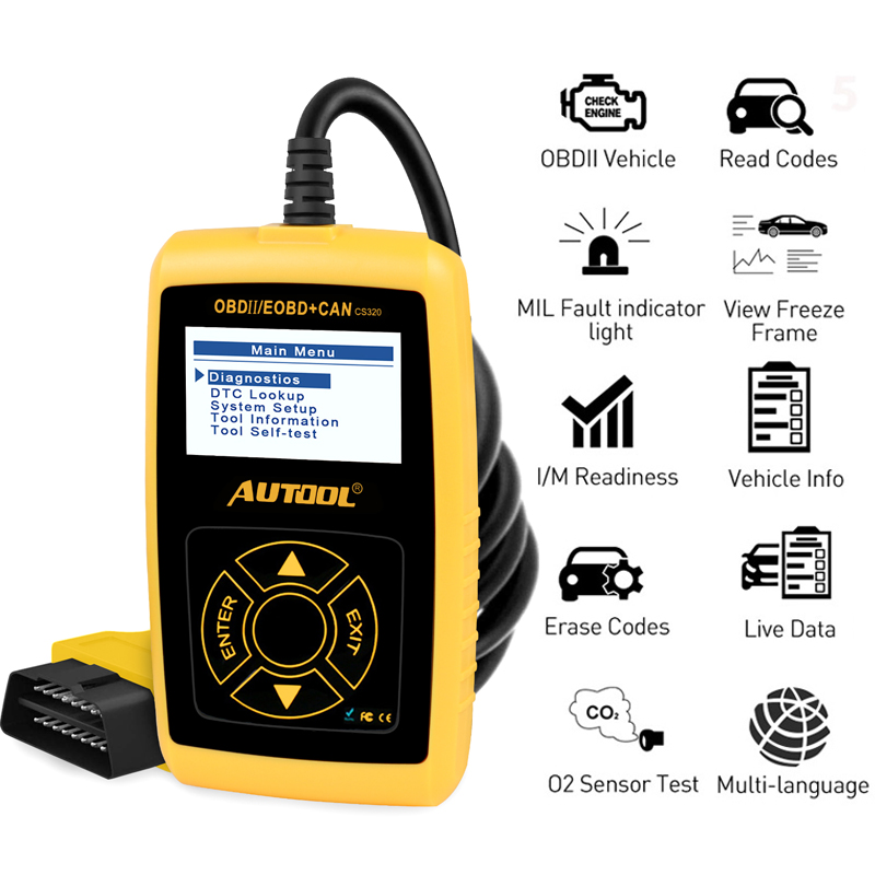Autool Multi-sprache OBD2 Auto Diagnose Scanner Auto Code Reader Auto Fahrzeug Scan Automotive Diagnostic Tool ODB OBD 2 II