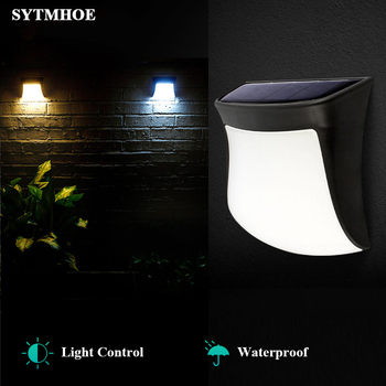 Light Control Art Solar Led Wall Lamp Efficient Wall Mount Outdoor Waterproof IP65 Garden Led Solar Powered Wall Lights Sytmhoe цена 2017