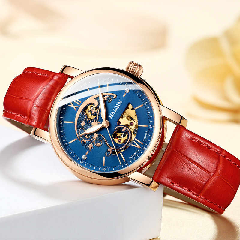 New HAIQIN Women Watches Top Brand Luxury Automatic Mechanical Watch Ladies Dress Fashion Casual Wristwatch relogio feminino+box