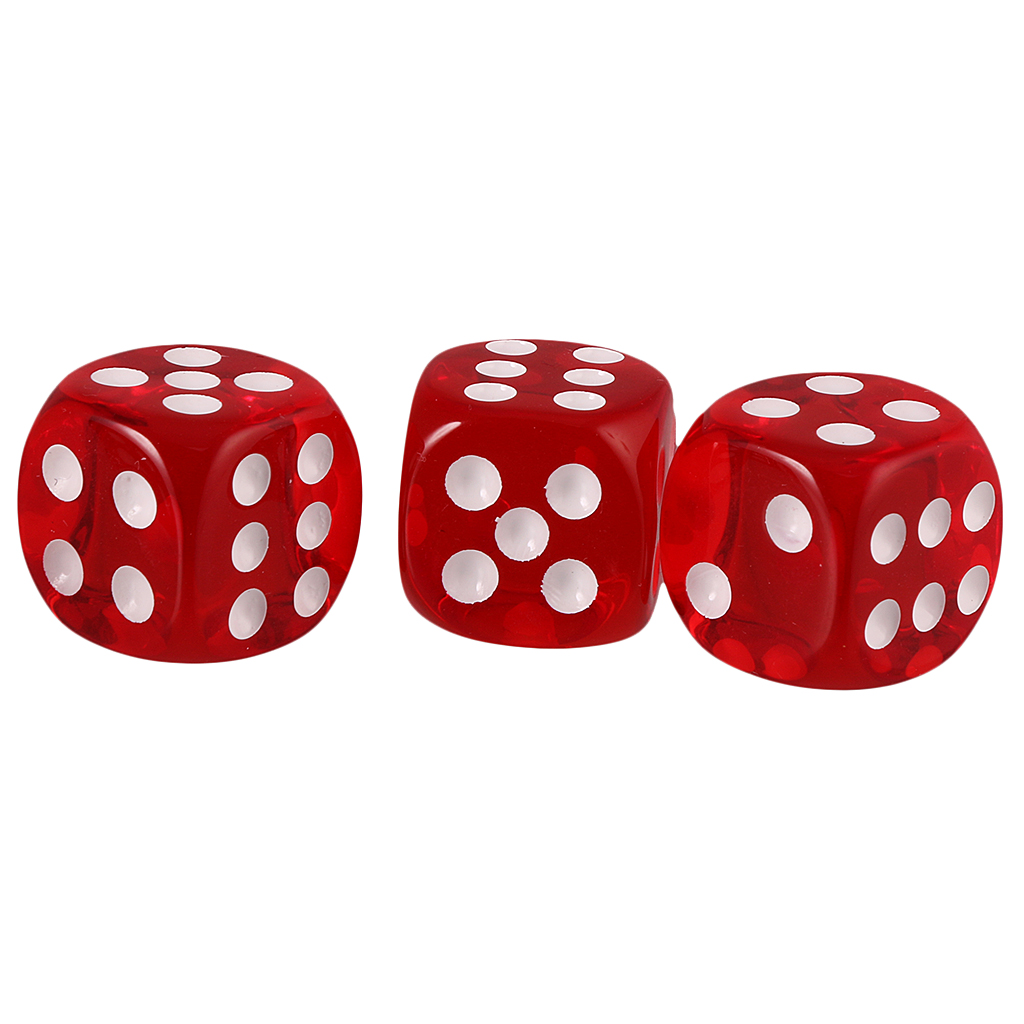 20x Six Sided D6 Dice Playing D&D RPG Board Game Favours Blue/Red