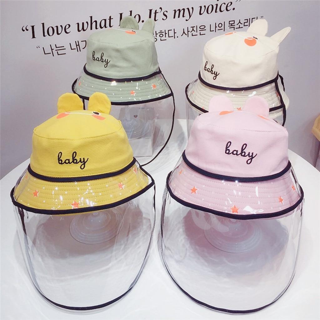 Baby Multi-function Protective Cap Anti-Saliva Protective Hat Eye Protection Windproof Hat Anti-saliva Children's Face Cover Cap 2