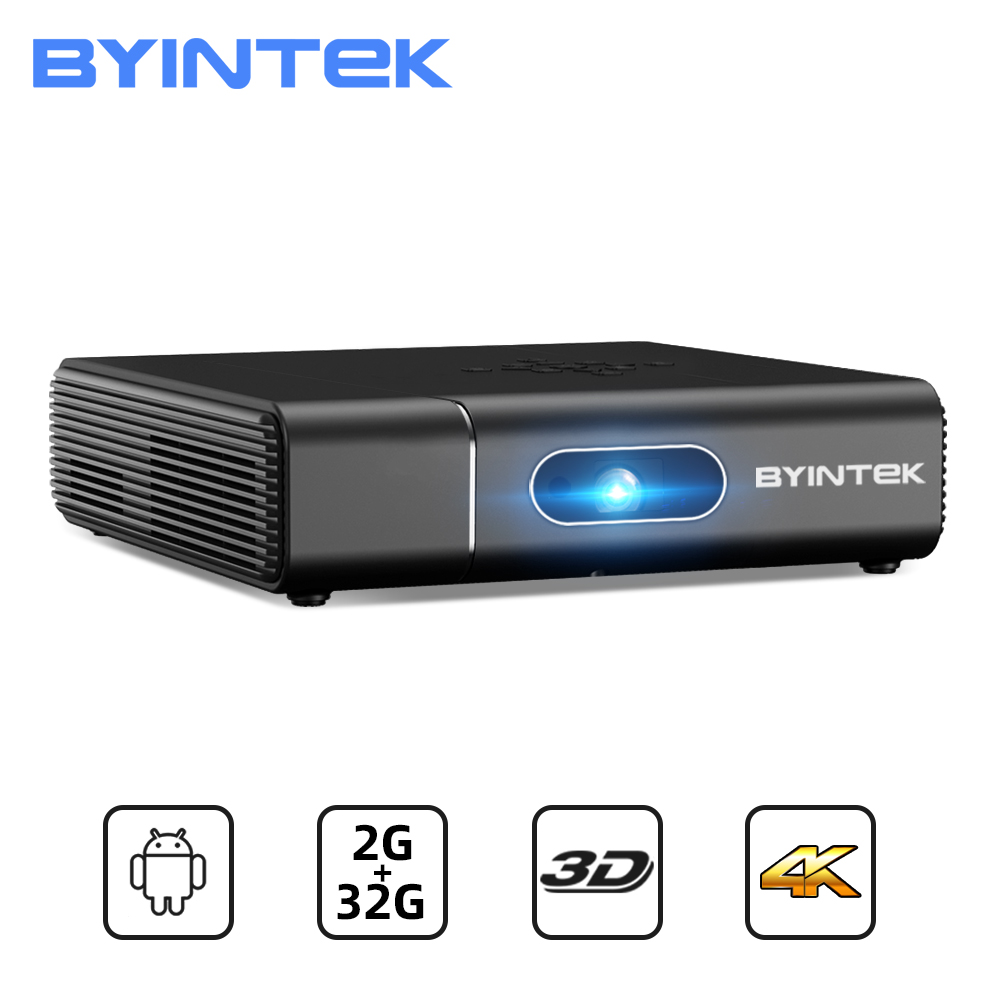 BYINTEK U30 Full HD 1080P 3D Android Smart WIFI лазерный проектор 300 дюймов портативный мини проектор для смартфона 4K кинотеатр