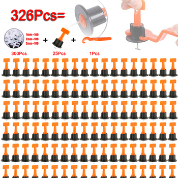 300+25+1 Pcs Tile Leveling System Tool Kit Level Wedges Alignment Spacers for Leveler Locator Spacers Plier Flooring Wall
