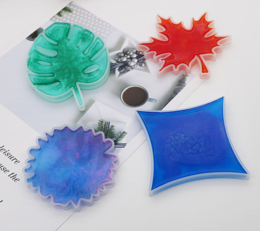 DIY Silicone Molds Cup Pad Water Cup Mat Holder Epoxy Resin Crafts Coasters Molds Handmade Tools 4 Patterns Optional
