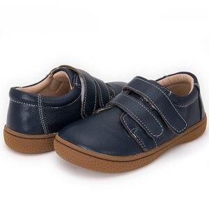 Image 1 - Фирменная кожаная обувь для детей, девочек, мальчиков, босинки, повседневные кроссовки для малышей, размер 25 35 #