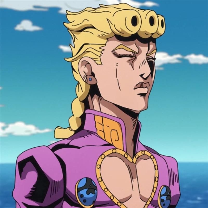 Anime Jojo S Bizarre Adventure Indestructible Diamond Character Giorno Giovanna Anime Yellow Curly Hair Wig Halloween Props Anime Costumes Aliexpress