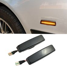 led side light bulb for bmw e39 1996 2003 smoked m logo car auto led side turn signal light led side marker lamp for bmw e39 2pcs Dynamic Led Marker Light Car Fender Side Yellow Flowing Sequential Turn Signal Light 12V For BMW E39 Car Tuning Supplies