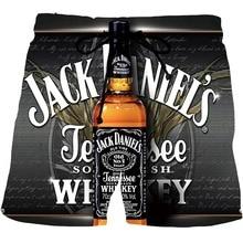 Мужские пляжные шорты с графическим ликером, шорты с 3D рисунком для пива, мужские/женские мужские шорты для водки