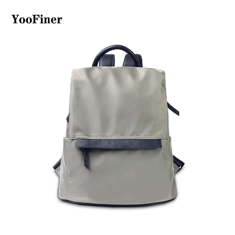 New brand YooFiner female backpack 2019 Japanese style waterproof bags wild casual travel girls school