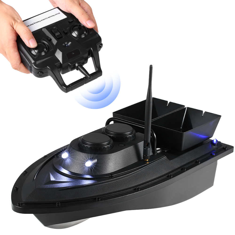 Wireless Smart Fishing Bait Boat Remote Control Fishing Feeder Toy RC Fishing Boat Remote Range Fish Finder Ship Speedboat