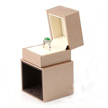 High Quality Box For Jewelry Free Shipping Wholesale 2pcs/lot Gold Wedding Ring Earring Display Boxes Jewelry Packaging