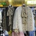 Женская блузка с бантом на воротнике, блузка свободного покроя с рукавами-фонариками на шнуровке, с бронзовым узором, новинка весны 2021
