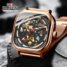 Automatic Mechanical HAIQIN 2019 Fashion Mens Watches Top Brand Luxury Waterproof Luminous Gold Mesh Steel Belt Relogio Masculin(China)