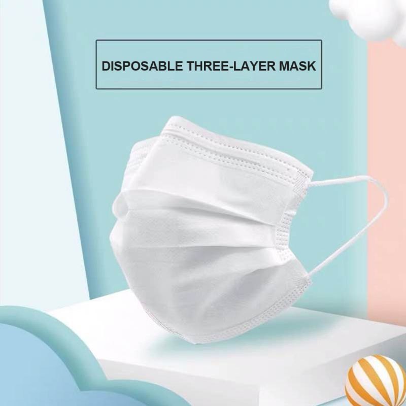 100PC Children's Mask Three-layer Disposable Mask Ordinary Safety PM2.5 Mask Children's masks Breathable Mask