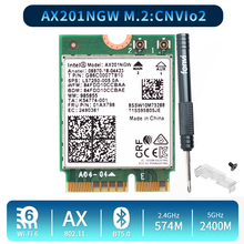 ثنائي النطاق 2400Mbps لاسلكي واي فاي 6 إنتل AX201 بلوتوث 5.0 NGFF مفتاح E CNVio 2 بطاقة واي فاي AX201NGW 2.4Ghz/5Ghz 802.11ac/ax