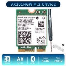 Dual Band 2400Mbps Wireless Wi Fi 6 For Intel AX201 Bluetooth 5.0 NGFF Key E CNVio 2 Wifi Card AX201NGW 2.4Ghz/5Ghz 802.11ac/ax