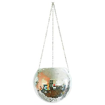 Disco Ball Hanging Flower Pot For Indoor Plants Bohemian Style Flower Planter Pots Rope Mirror Hanging Basket Garden Decor 1