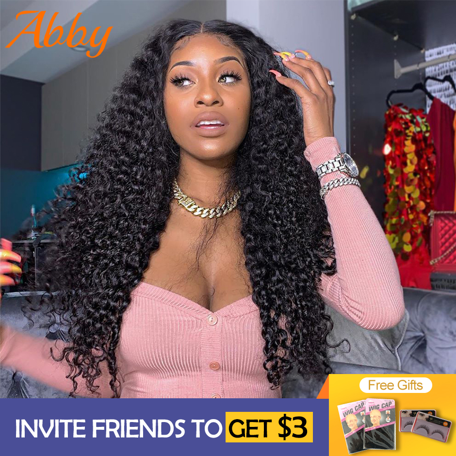 Peruvian Deep Wave Wigs Lace Front Human Hair Wigs 13x6 PrePlucked 150% Density Human Hair Wigs Abby Deep Wave Lace Front Wigs