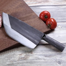 Stainless Steel Handmade Forged Butcher Knife Chinese Chopping Meat Cleaver Kitchen Chef Knives