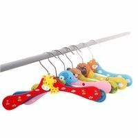 [Free shipping] Cartoon Animals Wooden kids Clothes Hanger /Cute Baby Children Hanger (30 pieces/Lot)
