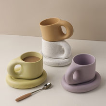 New Style Nordic Ins Wind Couple Mug Net Red Creative Coffee Cup Set Office Cute Girl Ceramic Mug Tea Cups and Saucer Sets