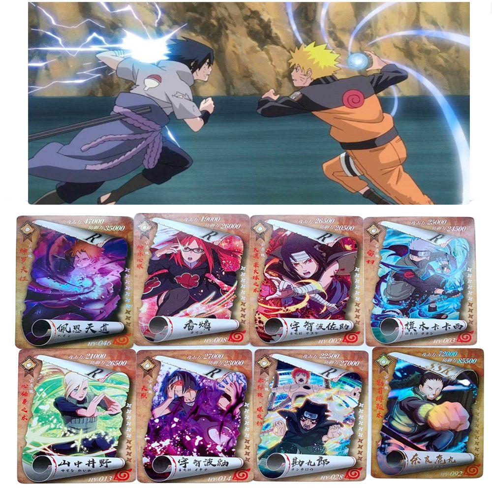 10 шт./лот Аниме Наруто карты 3D HD Sasuke Kakashi Itachi Jiraiya Deidara Gaara Экшн фигурки торговая коллекция детская Подарочная игрушка