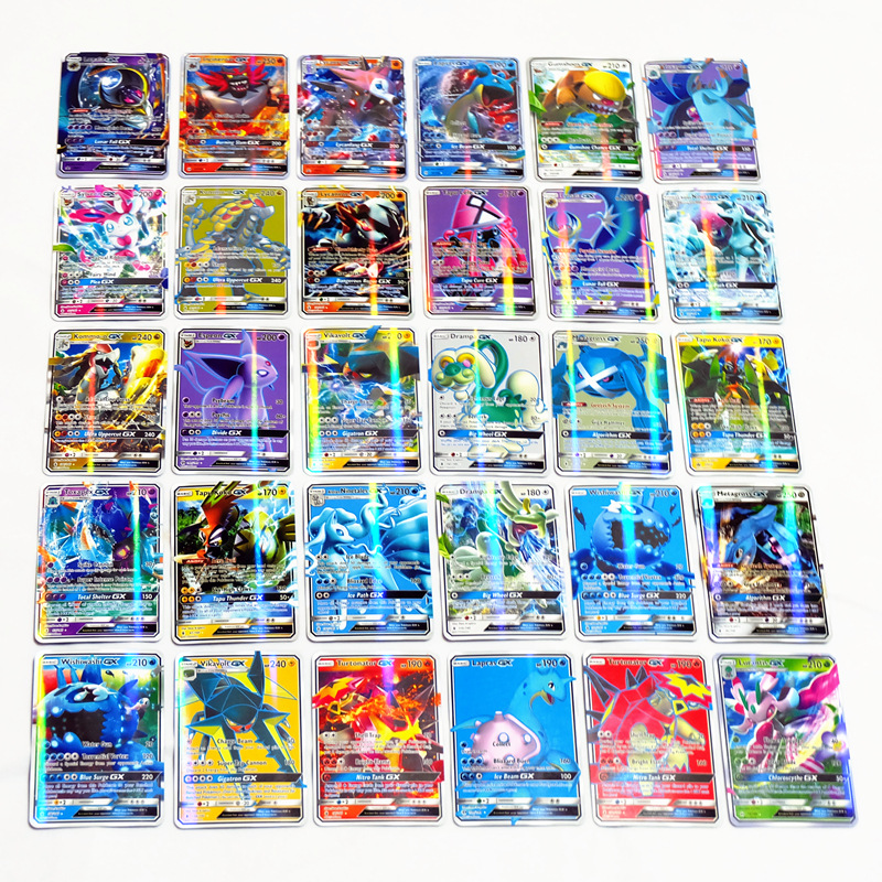 60/100/120/200 шт., блестящие карты-Покемоны