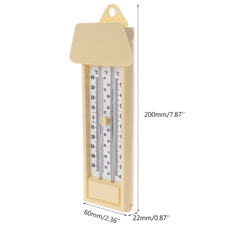 Max Min Thermometer - Indoor Outdoor Garden Greenhouse Wall Temperature Monitor -<font><b>40</b></font> to 50℃ / <font><b>120</b></font>℉ Y98E image