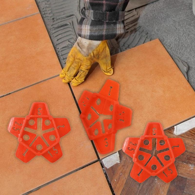50/150pcs Level Wedges Plastic Reusable Tile Spacers For Flooring Wall Tile Leveling Device Leveler Locator Tools