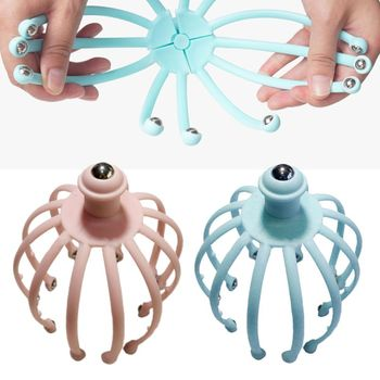 Head Scalp Massagers Beads Fingers Scratcher for Deep Relaxation Hair Stimulation and Stress Relief Handheld Scratcheres