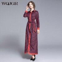 WQJGR Spring and Autumn Long Dresses Woman High Waist Party Night Empire Long Sleeve Party Dress Elegant Vestidos De Fiesta