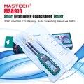 Original mastech inteligente smd testador medidor de capacitância multímetro ms8910, 3000 contagens display lcd, digitalização automática, variando automático