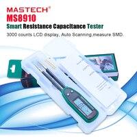 Probador Original MASTECH Smart SMD multímetro de capacitancia MS8910  pantalla LCD de 3000 recuentos  escaneo automático  rango automático