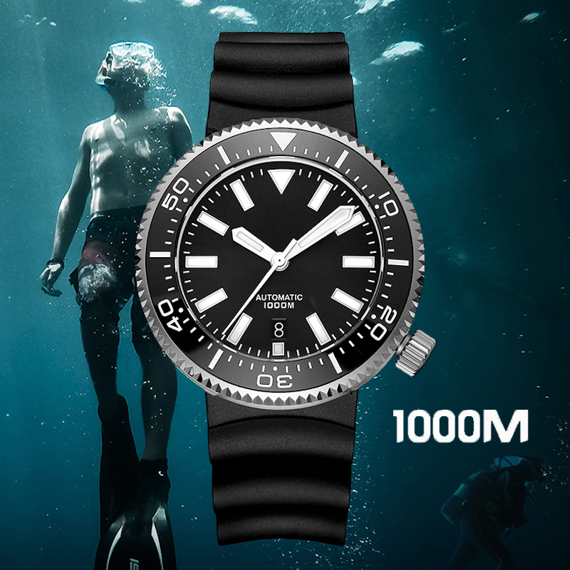 1000M Diving Watch Dive Automatic Men Waterproof Mechanical Watch Stainless Steel NH35 Military Luxury High Quality Genuine