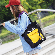 reusable shopping bag canvas cloth Women Large foldable Korean Style Free Dropping Shipping High Quality NEW