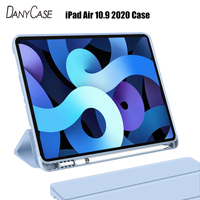 New iPad Case For iPad Air 10.9 2020 Soft silicone Cover Auto Sleep/Wake Tablet Case Smart Case With Pencil Holder Funda Capa