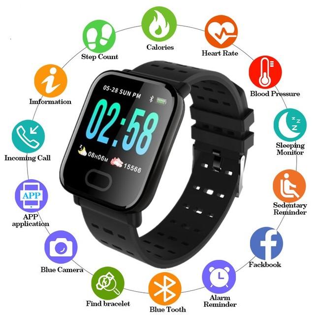 nuevo reloj 2019 deportivo inteligente unisex, podómetro, presión arterial, frecuencia cardíaca, banda inteligente para Monitor de oxy en sangre + caja