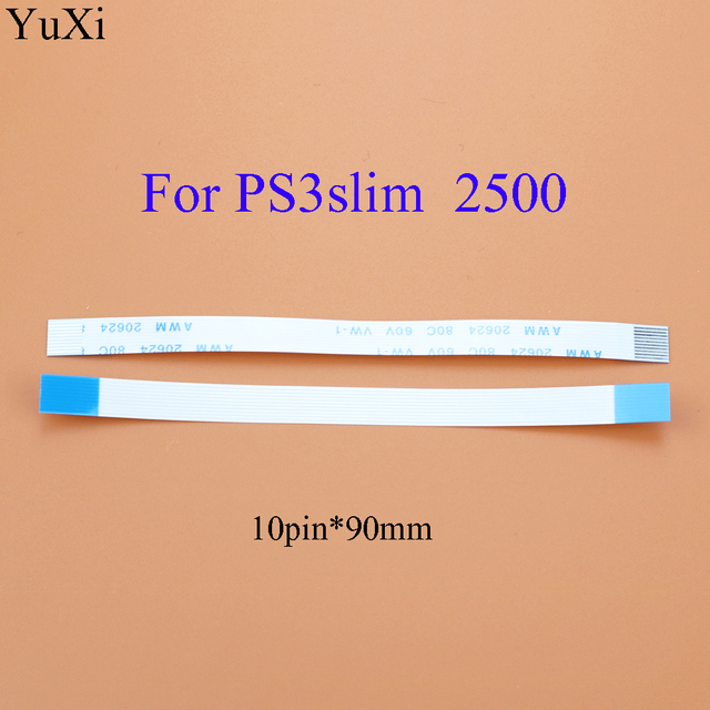 YuXi 6pin 10pin power on off switch flex ribbon cable For sony PS3 Slim 2000 2500 3000 3k 4000 Flexible Flat Ribbon Cable 2