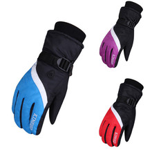 Winter Ski Gloves Men Waterproof Windstopper Skating Snow Gloves Windproof Skiing Glove Outdoor Sports Snowboard Luva Frio Strap
