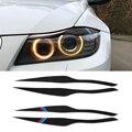 Декоративный светильник на голову из углеродного волокна для бровей и век для BMW E90 318i 320i 325i 2005-2012, аксессуары, наклейки на автомобильный свет...