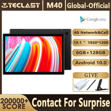 Teclast m40 10.1 tablet tablet tablet 1920x1200 android 10 unisoc t618 octa núcleo 6gb ram 128gb rom comprimidos pc 4g rede dupla wifi tipo-c
