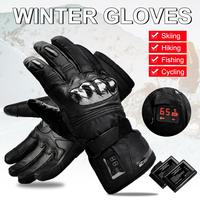 Motorcycle Electric Heated Gloves Windproof Waterproof Warm Keeping Thermal Insulate Gloves For Winter Climb Hiking Ski Hunting|Skiing Gloves|Sports & Entertainment -