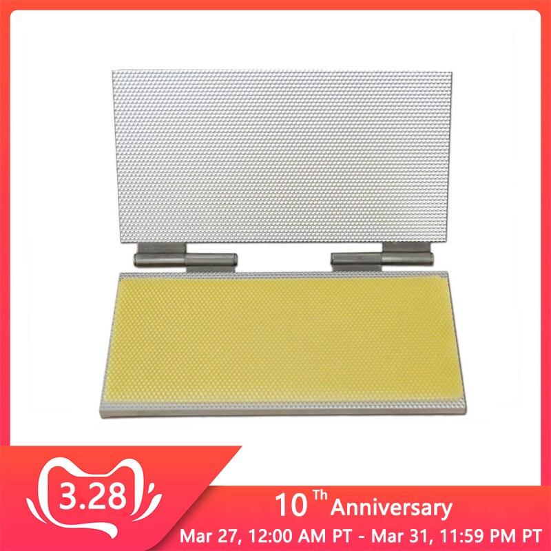 42*22CM Aluminum Alloy Beeswax Foundation Sheet Making Machine Notebook Type Bee Wax Sheet Casting Mold Machine Equipment