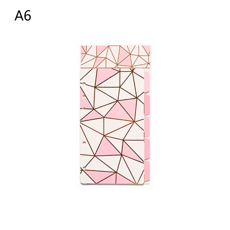 1Set <font><b>A5</b></font> A6 Loose Leaf Notebook Divider <font><b>6</b></font> <font><b>Hole</b></font> Index Separator <font><b>Binder</b></font> Stationery DXAC image